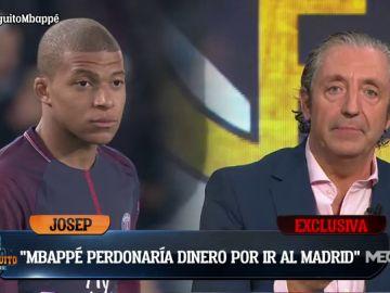 """Josep Pedrerol: """"MBAPPÉ quiere ir al Real MADRID y está DISPUESTO a PERDONAR DINERO""""."""