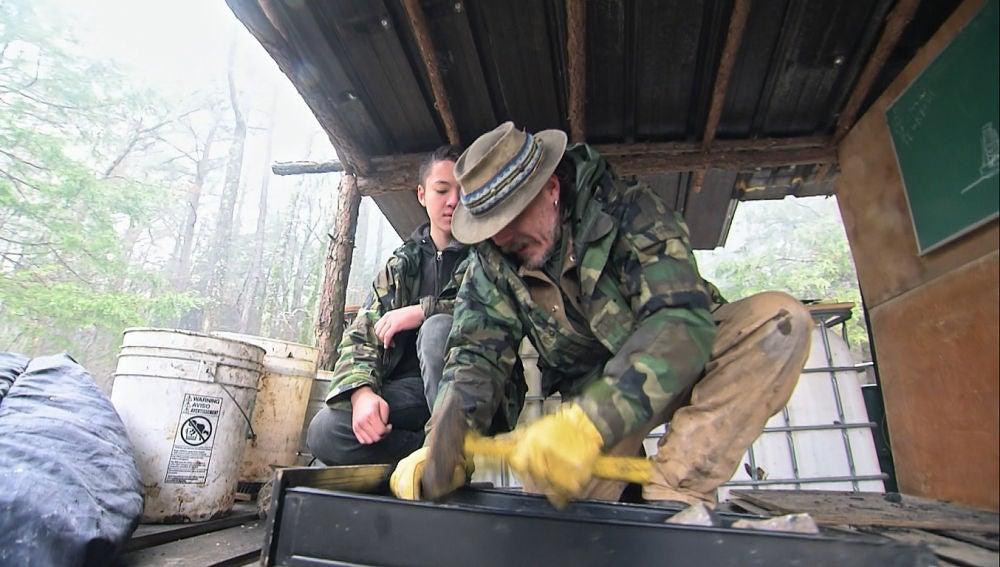 Trabajando en un horno casero