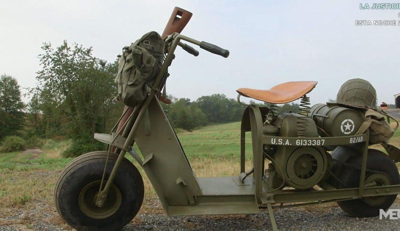 Una moto de la Segunda Guerra Mundial