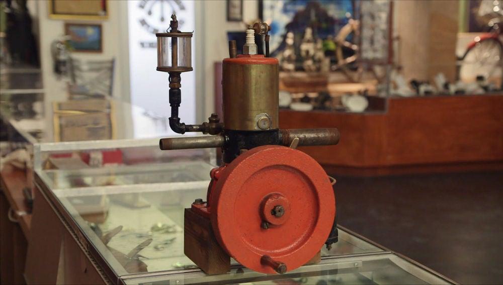Un motor de barco