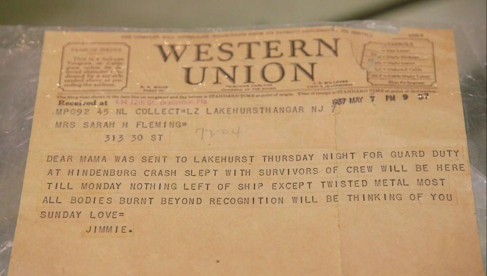 Telegrama del Hindenburg