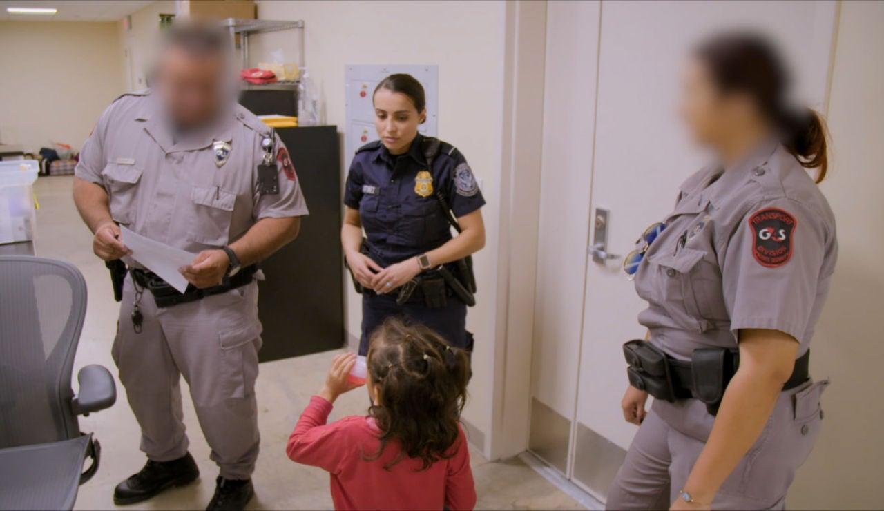 Menores solos en la frontera