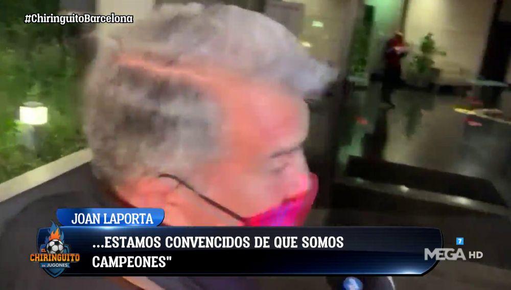"""LAPORTA: """"SI GANAMOS LOS CUATRO PARTIDOS, SOMOS CAMPEONES"""""""