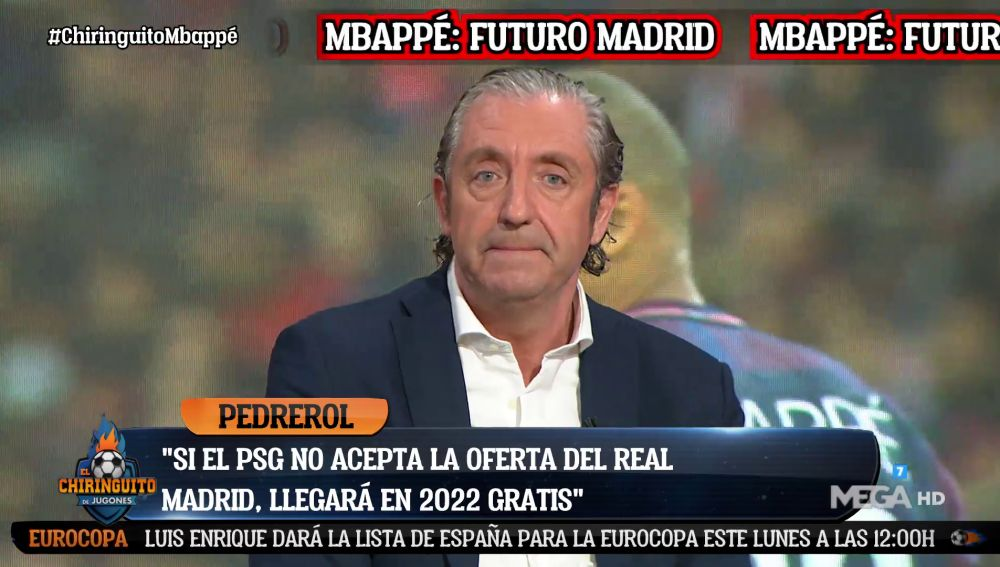 "Josep Pedrerol: ""Mbappé está convencido de ir al Real Madrid"""