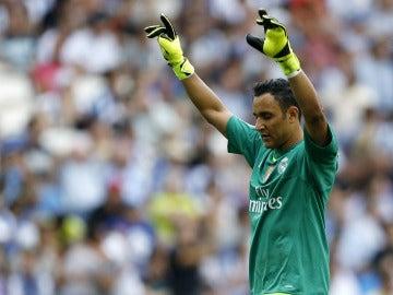 Keylor Navas, durante un partido con el Real Madrid