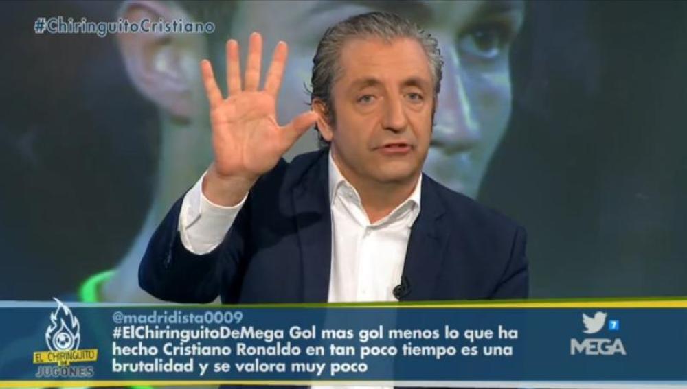 Josep Pedrerol en El Chiringuito