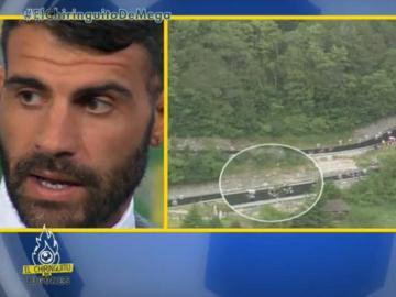 Óscar Pereiro recuerda su grave caída en Col de Agnello.