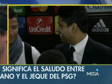 Nasser Al-Khelaifi y Cristiano Ronaldo