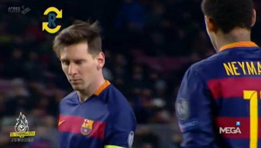 Guiño de Messi a Neymar