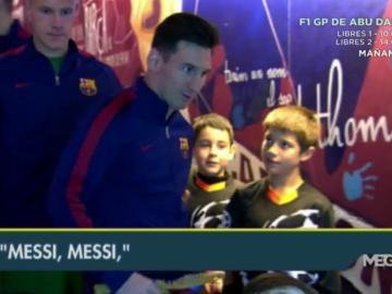 Leo Messi en el Camp Nou