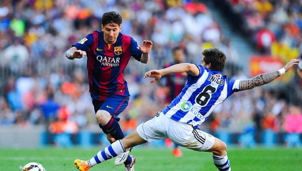 Messi e Íñigo Martínez