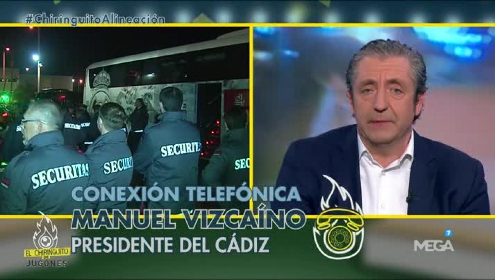 Manuel Vizcaíno en El Chiringuito
