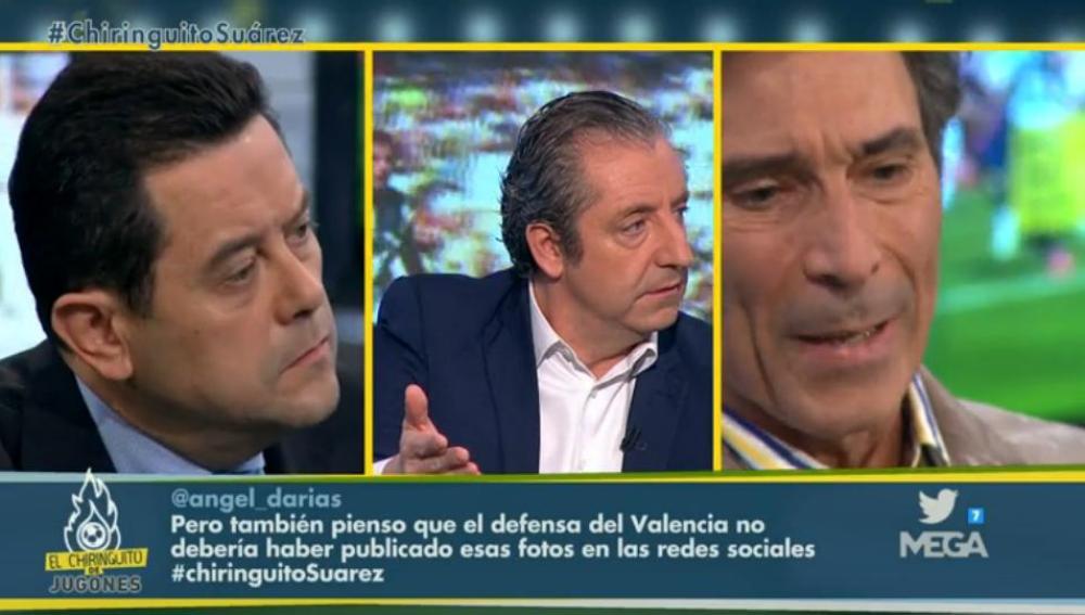 Lobo Carrasco, Josep Pedrerol y Tomás Roncero