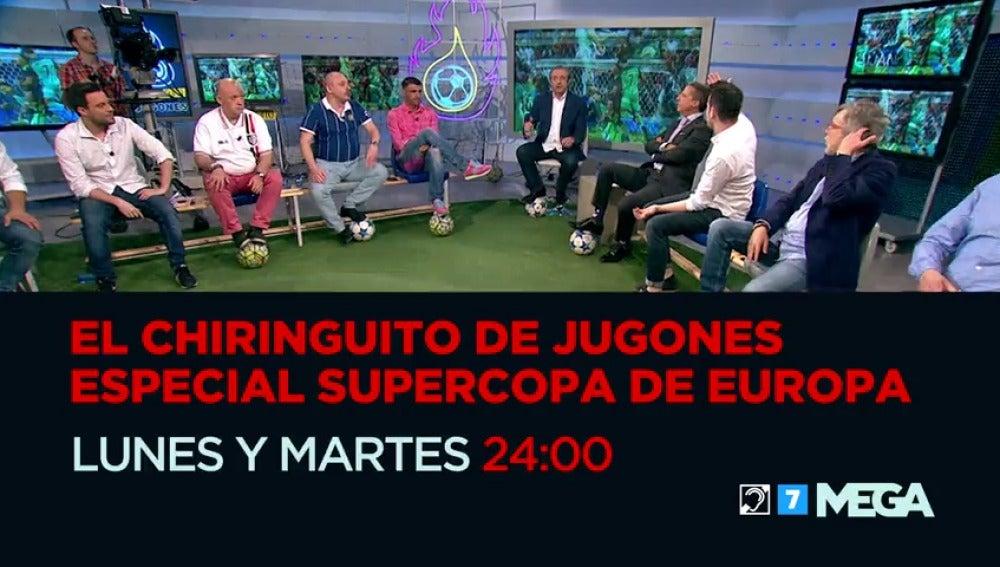 Frame 14.028265 de: Real Madrid-Sevilla FC, la Supercopa se decide en 'El Chiringuito de Jugones'