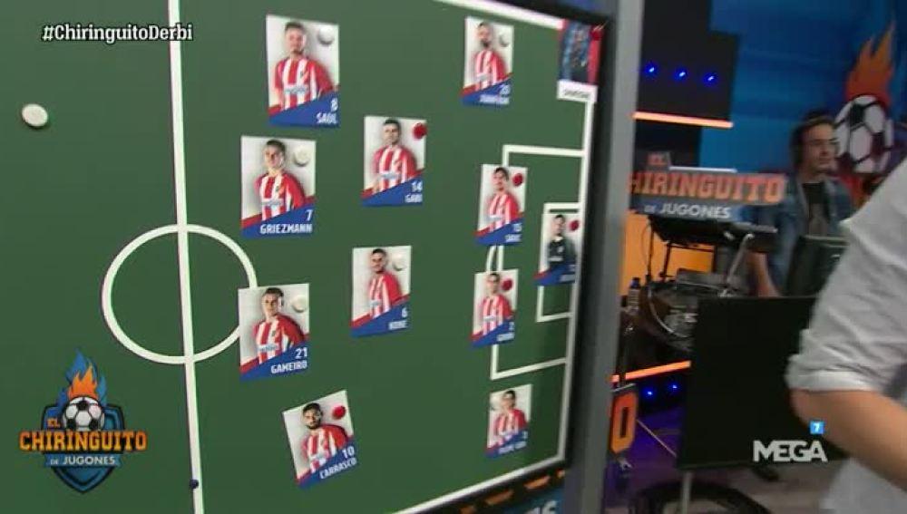 La alineación del Atlético de Madrid