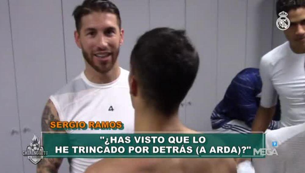 El vestuario del Real Madrid