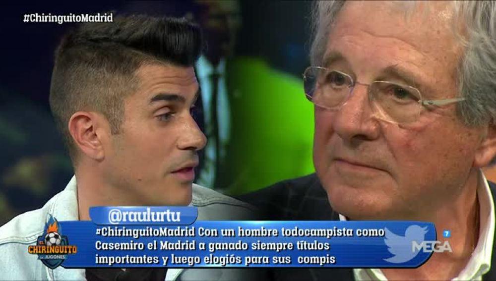 Cara a cara entre Álvaro Benito y D'Alessandro