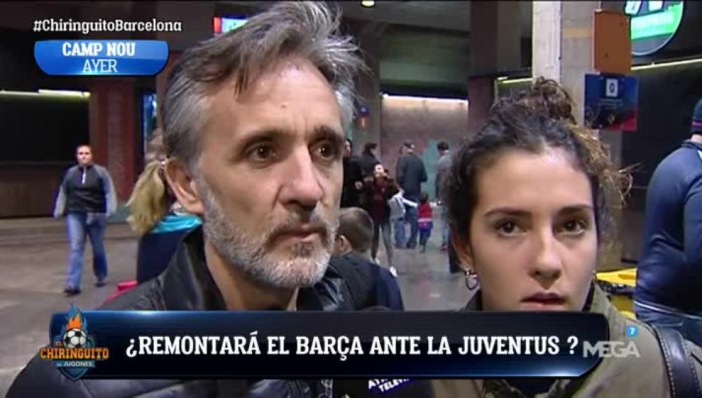La afición del Barça, dividida