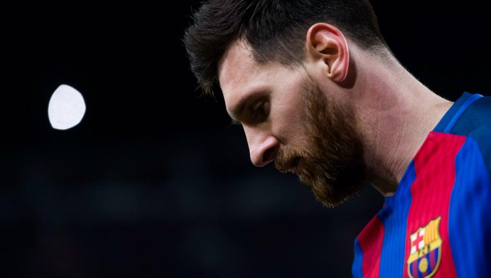 Messi, en un partido con el Barça