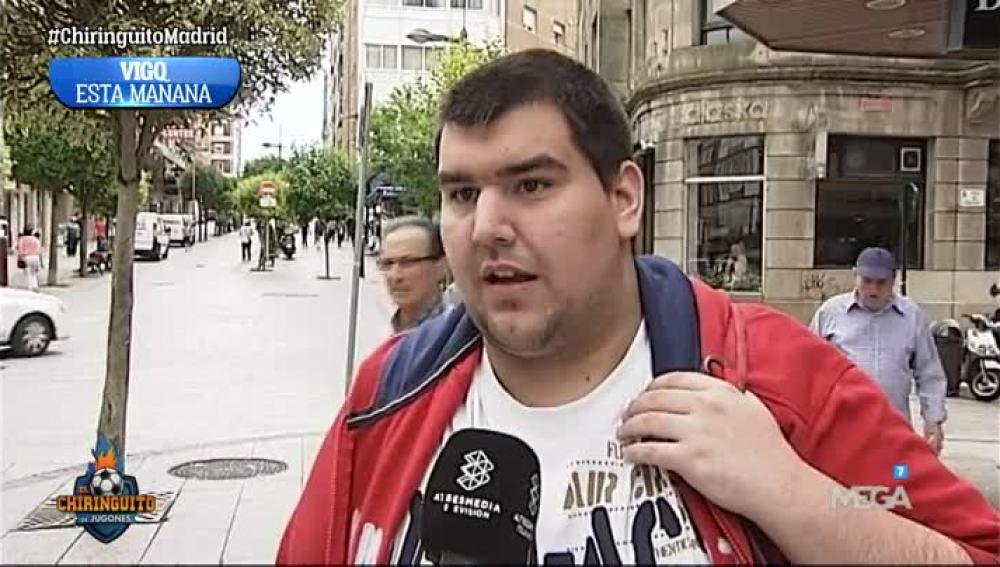 La gente de Vigo, con ganas de derrotar al Madrid