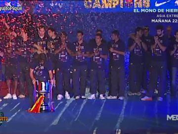 La celebración del Barça en 2012