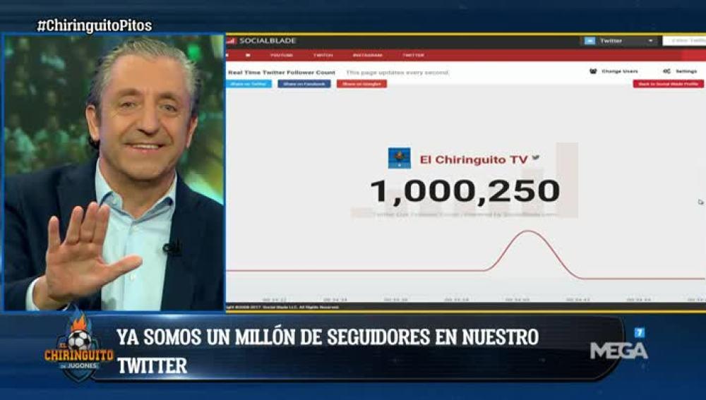 El Chiringuito llega al millón de seguidores