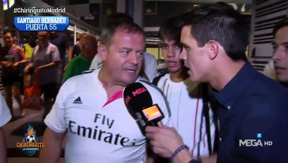 Edu Aguirre en El Bernabéu