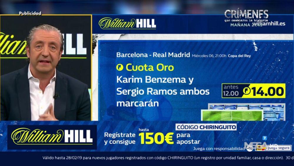 Josep te trae la mejor oferta de registro para que apuestes con William Hill
