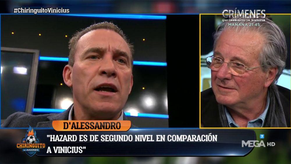 D' Alessandro y Paco Buyo, cara a cara por la comparación Hazard - Vinicius