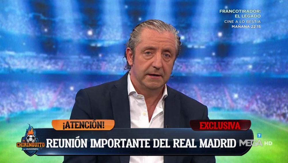"""Josep Pedrerol: """"Ha habido una cena entre Florentino y Solari"""""""
