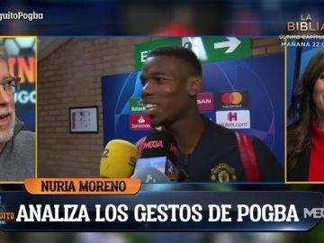 "Nuria Moreno, experta en comunicación no verbal: ""Pogba se ríe para aliviar tensión"""