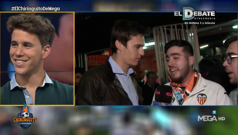 Los aficionados del Valencia, pletóricos tras el triunfo en el derbi ante el Levante