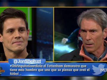 Edu Aguirre y Lobo Carrasco 'estallan' en El Chiringuito de Jugones