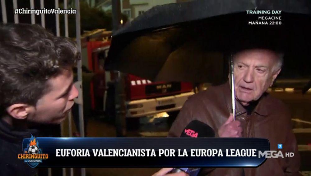 La afición del Valencia, confiada tras eliminar al Villarreal en Europa League