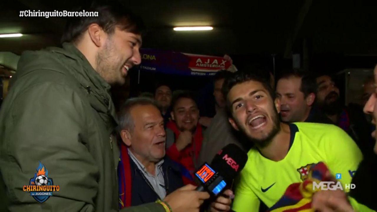 La Afición Del Barça, Eufórica Tras El Triunfo Ante El