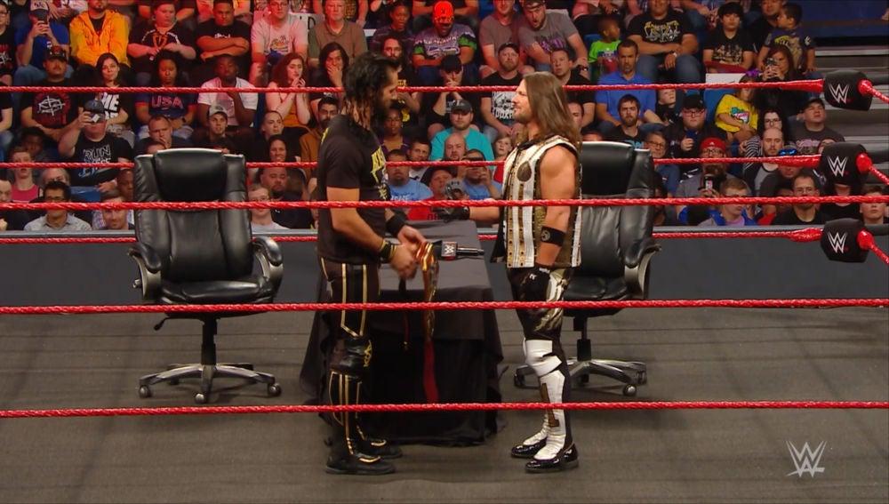 Seth Rollins y Aj Styles
