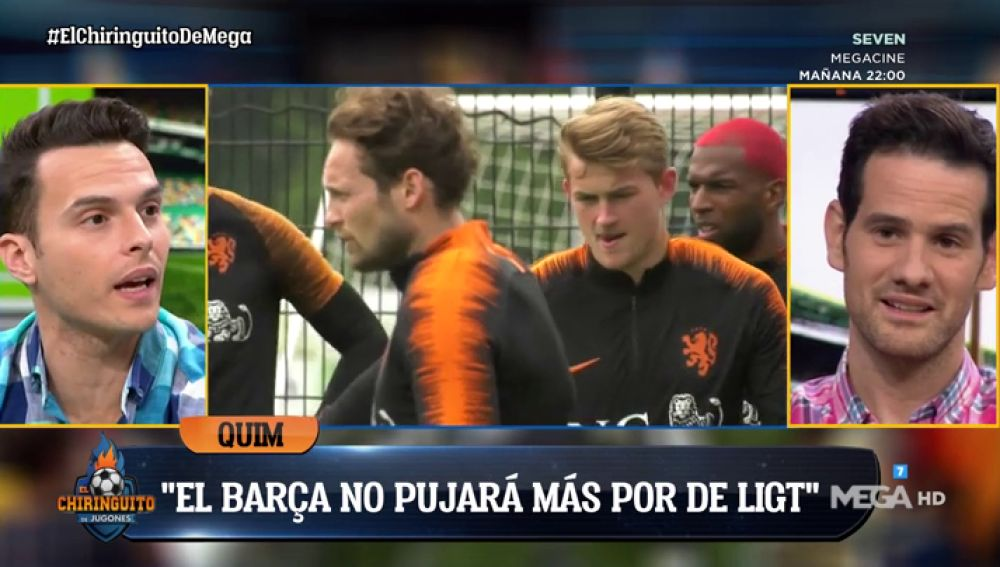 """Quim Domènech: """"El Barça ya le ha dicho a De Ligt que no le va a subir más el salario"""""""