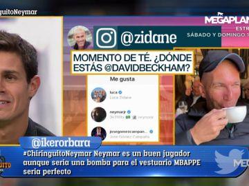 Neymar da 'like' a una foto de Zidane tras publicar una instantánea con Benzema