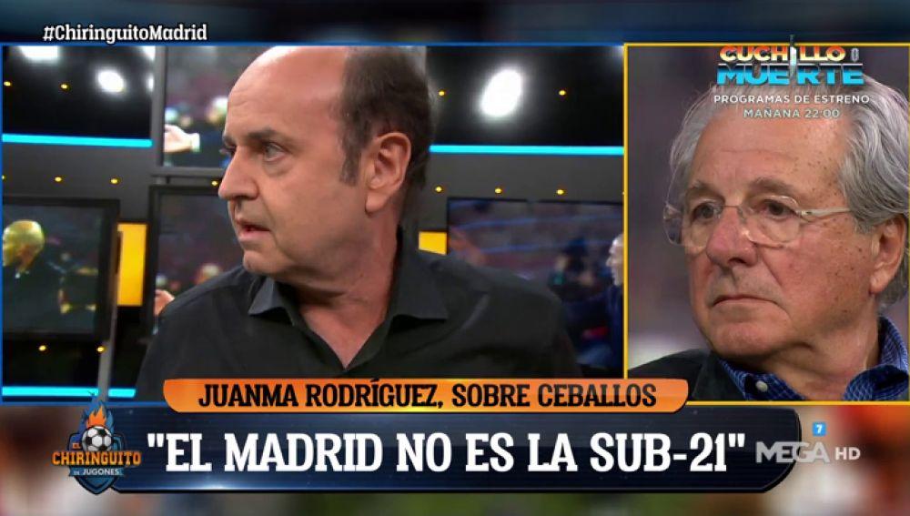 """Juanma Rodríguez: """"Decimos que Zidane no tiene ni idea y ha ganado tres Champions"""""""