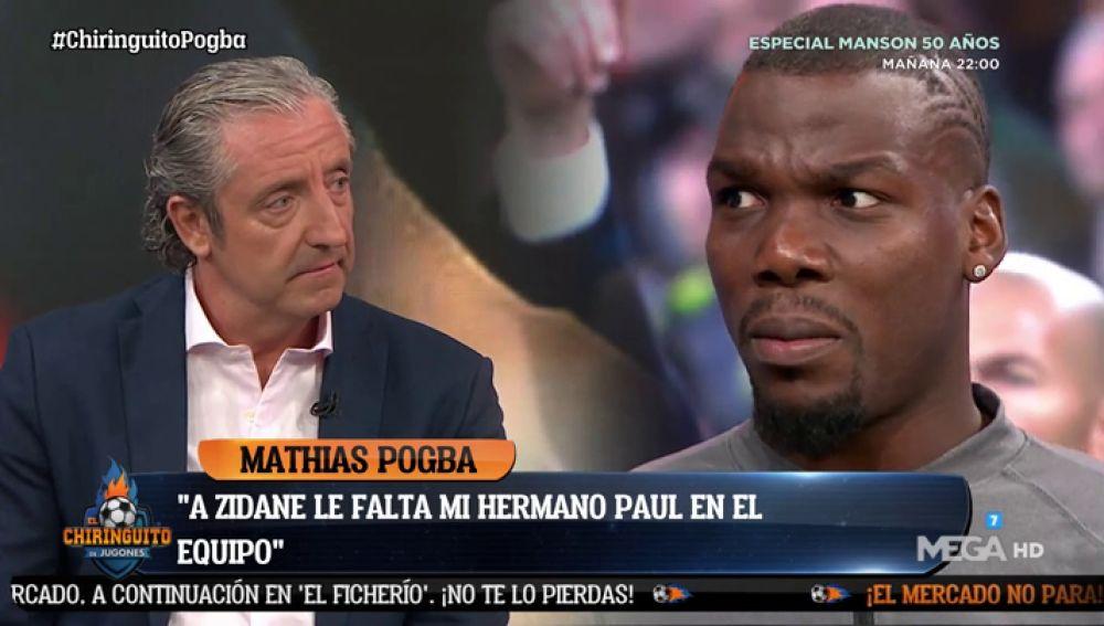 """Mathias Pogba: """"A Zidane le falta mi hermano"""""""