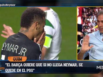 "Lobo Carrasco: ""Hoy Neymar está más cerca del Barça"""