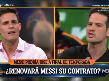 Quim Domènech y Edu Aguirre 'estallan' por la posibilidad de que Messi abandone el Barça