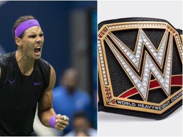 Nadal y su cinturón de la WWE