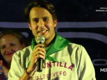 Juanfe Sanz, pregonero de Valdeavero, su pueblo natal