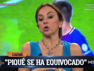 """Carme Barceló: """"Piqué se ha equivocado"""""""