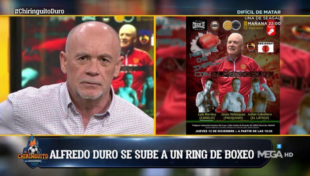 """Alfredo Duro: """"Voy a debutar como boxeador"""""""