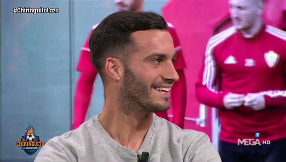 José Carlos Lazo, jugador del Almería, en El Chiringuito