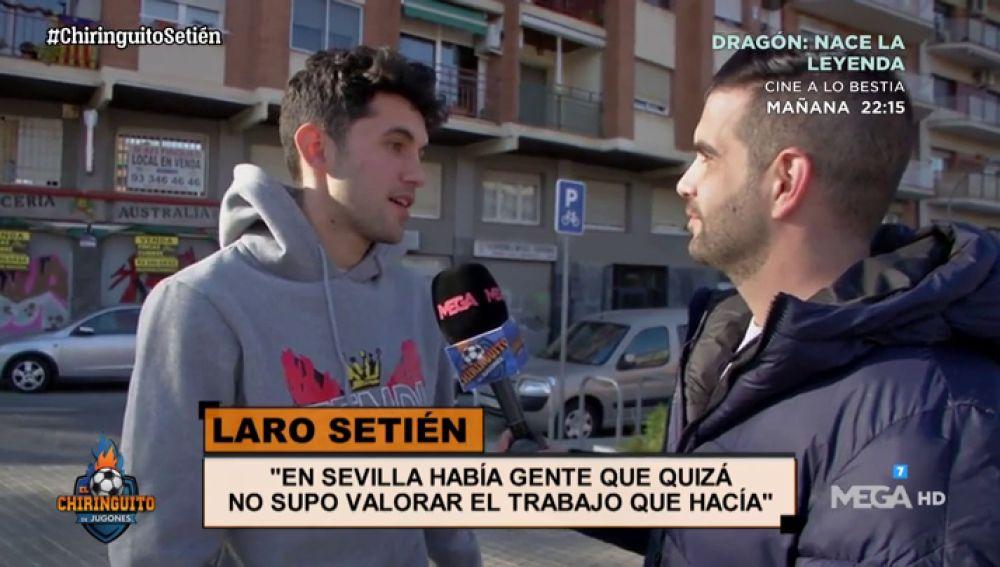 """Laro Setién: """"Mi padre y yo siempre hablábamos de Messi y del Barça"""""""