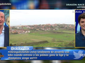 Nico Rodríguez visita Liencres, el pueblo del nuevo entrenador del FC Barcelona
