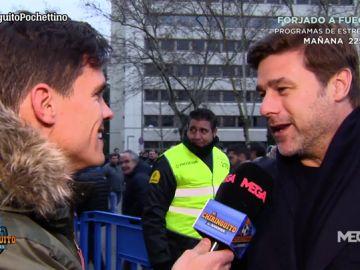 Pochettino, cazado por Edu Aguirre a su salida del Santiago Bernabéu